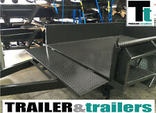 "Heavy Duty Box Trailer 10x5 NEW TYRES 15"" High SideS Tandem full checker plate"