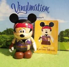 "Disney Vinylmation 3"" Park Set 1 Pirates of Caribbean Mickey Mouse Japan w Card"