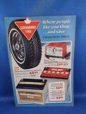 CANADIAN TIRE CATALOG FALL WINTER 1980-81 VINTAGE TOOLS BATTERY CAR RADIO PAINT