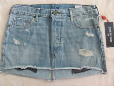 True Religion Cut-off Mini Skirt- Destroyed -TR Vintage- Size 27- NWT $179