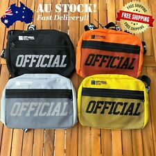 OFF HGUL Chest Bag Bumbag Hip Hop Streetwear Top Crossbody Tactical Shoulder Bag