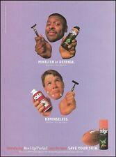 Green Bay Packers Brett Favre Reggie White 1997 Edge Pro Gel advertisement print