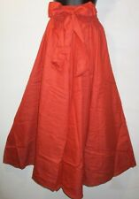 Pants Fits M L XL 1X 2X African Wax Cotton Denim Cinnamon Wide Leg NWT Palazzo