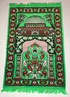 Kaaba Mecca Prayer Rug Mosque Islamic Mat Turkish Islam Ka'ba Wall Decor Green