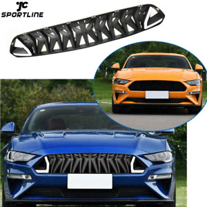 Schwarz Front Gitter Grill Kühlergrill Rot LED Licht für Ford Mustang 18-19 ABS