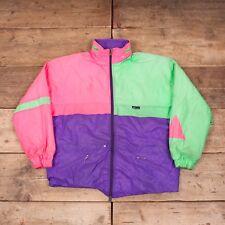 """Vintage pour homme K-WAY violet 1980 S Rembourré Imperméable Veste Large 44"""" R8107"""