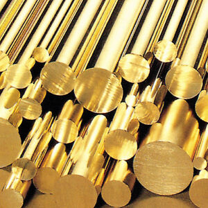 Brass Round Bar/Rod - Diameters 3mm to 120mm - various lengths - Modelmaking