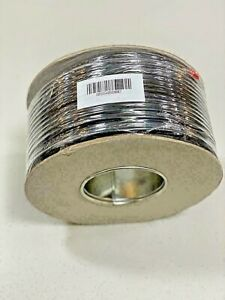 RG59B1 Solid Copper Core PVC Cable 100M Reel Black CCTV Camera power Uk Stock