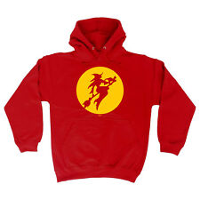 Funny Novelty Hoodie Hoody hooded Top - Moon Witch