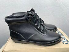 Land's End Womens Splash Rain Boots Size 9 Black Lace Up Ankle Rubber