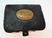 Fine U.S. CIVIL WAR Union Infantryman Leather Cartridge Box   c. 1860  antique +