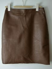 Warehouse Brown Faux Leather Skirt UK8