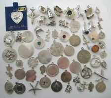 VTG Sterling Silver Jewelry Bracelet CHARM~PENDANT LOT 130 Grams Scrap or Not