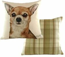 Chihuahua Dog Cushion Cover - Waggy Dogz Range Quality Handmade in UK