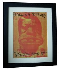 ROLLING STONES+Exile On Main St+POSTER+AD+ORIGINAL 1972+FRAMED+FAST GLOBAL SHIP