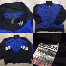90s VTG ADIDAS REVERSIBLE All Over Print TREFOIL Logo Windbreaker M Jacket OG
