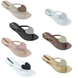 Ipanema Wave Maxi Heart Flip Flops Slim Footbed Beach Sandals 82120
