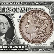 $1 Silver Certificate & Morgan Silver Dollar!