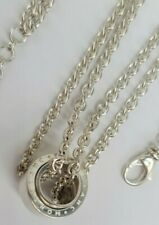 """MONT BLANC 15.5-16.5"""" Profile Collection Wish Pendant Necklace Sterling Silver"""