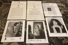 CELINE DION RARE 1991/92/93 ORIGINAL Epic PRESS KIT PHOTOS LOT Unison S/T Colour