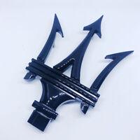 Maserati Schwarz Glänzend Dreizack Emblem Logo Vorne Grill Haube Motorhaube NEU