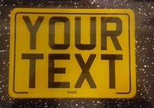 7x5  text motorcycle kids plate novelty bike car plate not number plate