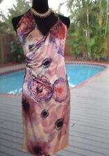 Versace BRILLIANT Silk Floral Summer Dress   IT40 S 4-6 FR36