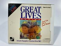 USED VINTAGE RADIO SHACK TANDY PC GAME VIS Great Lives Series
