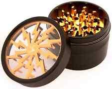 Chromium Crusher 2.5 Inch 4 Piece Tobacco Spice Herb Grinder- Gold