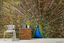 New Listing3D Peacock Open Screen Wallpaper Wall Murals Removable Wallpaper 296