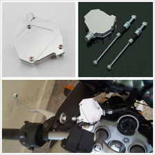 CNC Aluminum Motorcycle Clutch Lever Easy Pull Cable System Kit Universal Silver