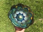 STUNNING Imperial Shell & Sand Carnival Glass Amethyst/Purple Bowl ~ EMERALD ~