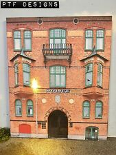 G Scale Scratch Built Police Station #2 Building Front-Flat w/ LED