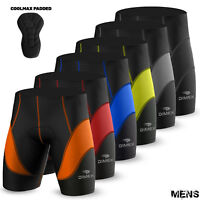 Mens Cycling Shorts Quality Anti-Bac Coolmax Padded MTB Bicyle Short All Sizes