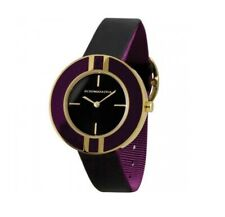 BCBG MAXAZRIA Women's Round Black/Purple Strap Watch & Box - RRP £110 - BG6252