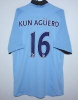 Manchester City England home shirt 12/13 #16 Aguero Size 46