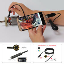 7mm Lens Car Inspection Camera Scope 6LED Borescope Tube Cable Android PC 5M
