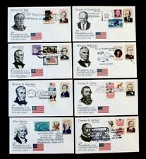 AMERIPEX '86 US PRESIDENTS on Combo Patriotic Late Use 8 Different FDC Covers B