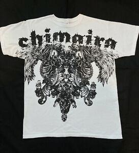 Chimaira Skeletons White T-shirt LARGE **RARE**