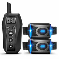650 Yards Remote Dog Training Shock Collar IPX7 Waterproof for 2 Pet Dogs