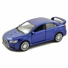 WELLY DISPLAY MITSUBISHI LANCER EVOLUTION X DIECAST CAR BLUE 43655D