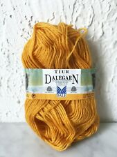 Dalegarn Dale of Norway Tiur Mohair Wool Yarn - Partial Skein Color Gold #2526