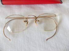 Vintage 1/10 12K Gf Top Rim Half Frame Glasses Eyeglasses Fulvue Gaspar