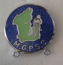 M.G.P.S.C. Manx Grand Prix Supporters Club, Enamel Badge Motor Bikes Isle Of Man