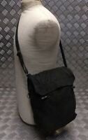 Genuine Army / Military Gas Bag. Vintage Shoulder / Side / Messenger Bag Black