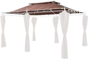 Grasekamp Ersatzdach zu Garten-Pavillon Inca 3x4 Mocca Party-Zelt Terrassen-Dach