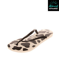 HAVAIANAS Rubber Thong Sandals EU 37/38 UK 4.5 / 5 US 6 Two Tone Logo
