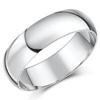 Palladium Ehering 6mm Band Herren Ring Schweres Gewicht D-Förmiger Ring