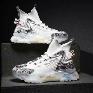Men Shoes Breathable Outdoor Sports Shoes Lightweight High Top Fashion Sneakers