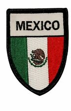 Country Flag Of Mexico Shield Embroidered Iron On Travel Souvenir Patch FD